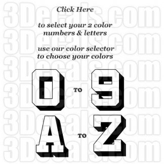 Custom Color Numbers & Letters
