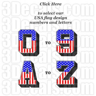 USA Flag Numbers & Letters